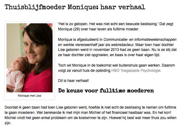 Het Moederfront: Thuisblijfmoeder Monique: haar verhaal 2014-10-06 09-43-46