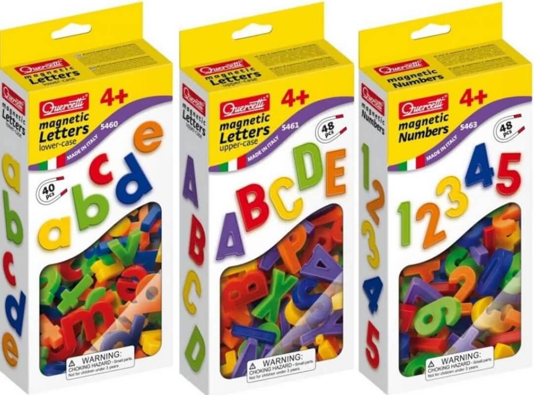 Magnetische letters en cijfers