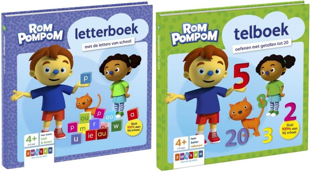 rompompom letterboek en telboek