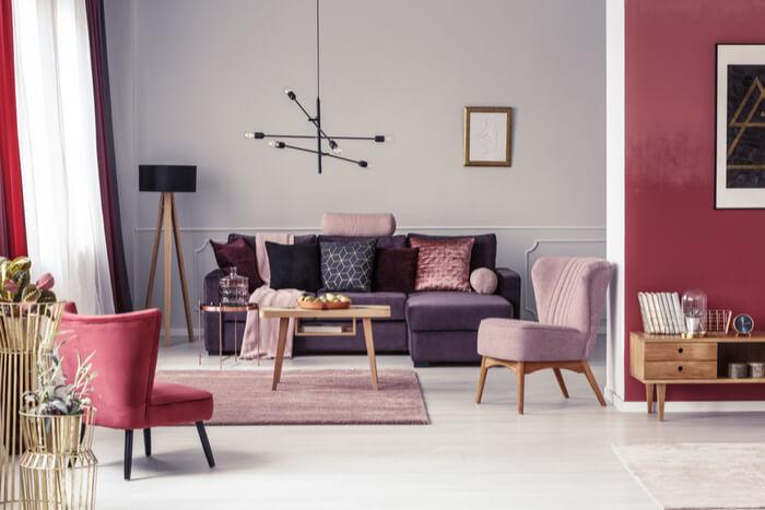 trendy inrichting woonkamer 2019
