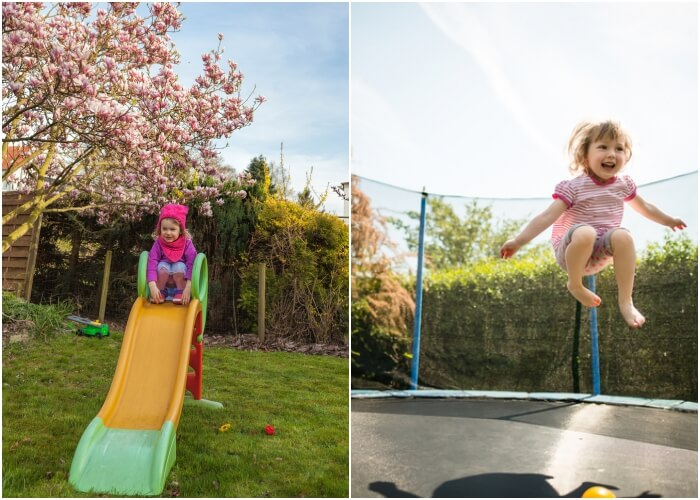 glijbaan of trampoline