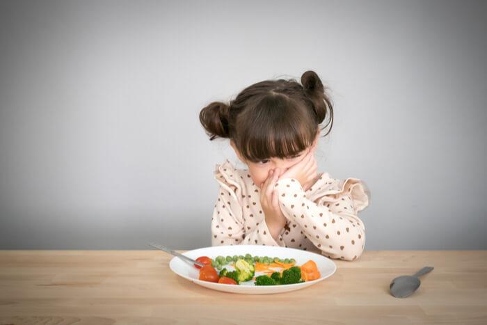 kind dat geen groente wil eten