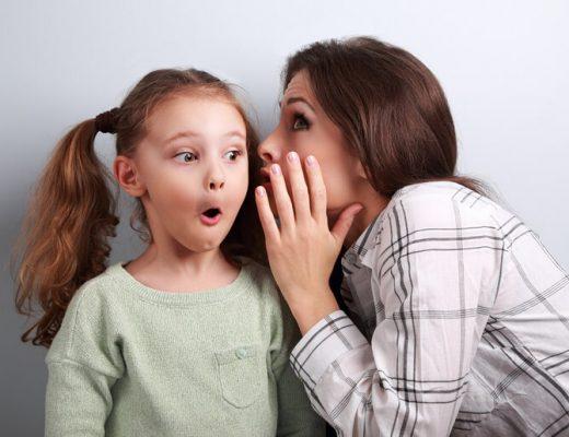 fluisteren moeder kind