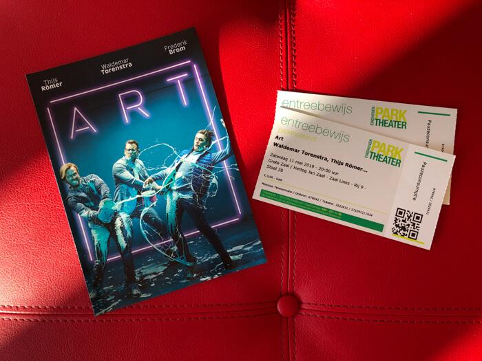 toneelvoorstelling ART flyer en kaartjes