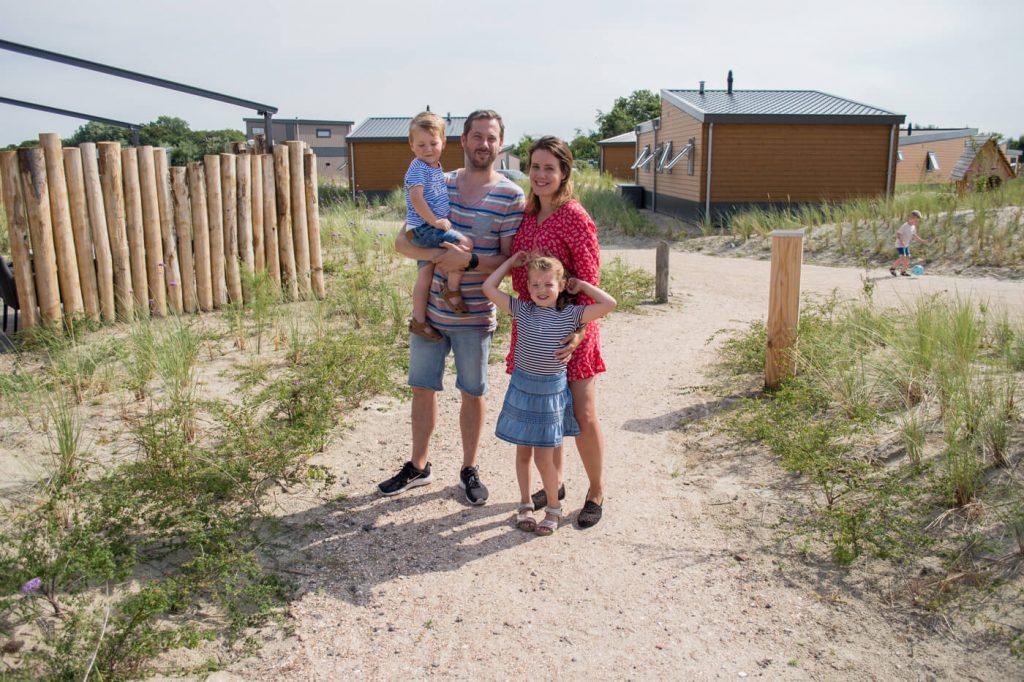 gezin op camping julianahoeve