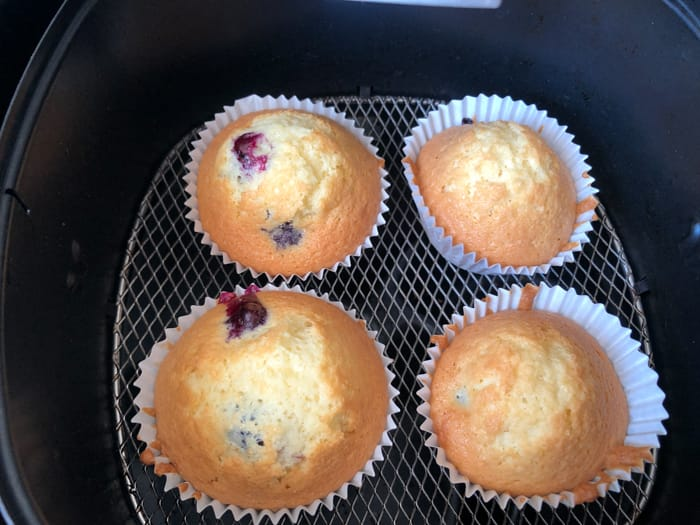 Airfryer cupcakes